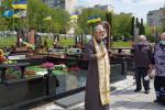 Священик звершив заупокійну молитву у день смерті спочилого військового